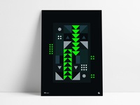 Neon Dark Triangular Poster