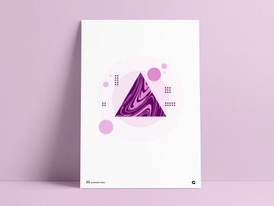 Poster 59 - Liquid Geometric art poster series poster a day stacked circular overlay vector waves wavy liquify geometric abstract wall art agrib series print poster purple triangle liquid