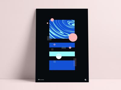 Stacked Swirl Geometric Poster