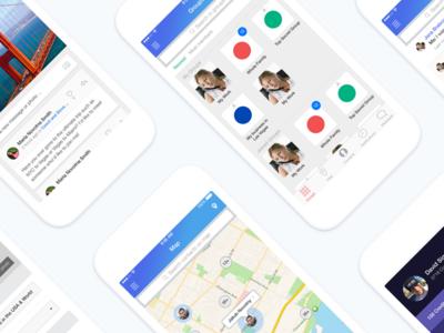 Circlees – Location Sharing App feed groups map ui application ios location sharing ux app