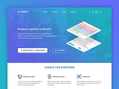 Spekfy specify project web ui
