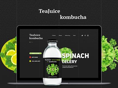 TeaJuice Rebranding ui web rebranding juice