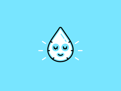 Hydro Skincare face mositure smart clever illustration doodle sheet mask skin care beauty h2o water drop flat line minimal simple icon logo