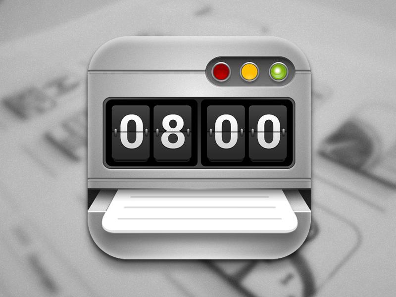 Time Sheet Icon icon ios 6 design fireworks time sheet