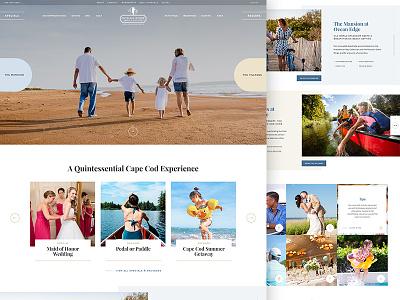 Cape Cod Resort hotel resort homepage design ui