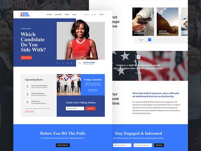Homepage Design issues register candidates design vote america politics ui