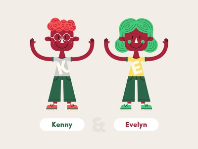 Character Style girl boy illustration character style