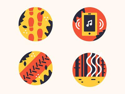 Nature Icons leaves ladybug wildlife otter trash pollution outdoors nature icons