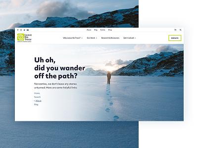 404 environment nature wander design website ui 404