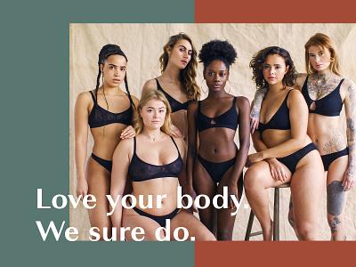We Love design equality women logo branding