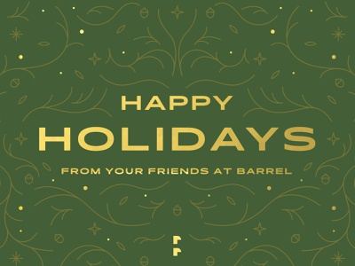 Happy Holidays from Barrel ⛄ chocolate new years happy holidays xmas christmas vector typography holiday design illustration