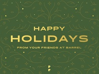 Happy Holidays from Barrel ⛄