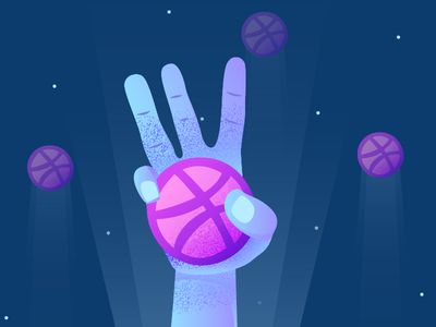 3x Dribbble Invites illustration ux ui player invites invitation giveaway invite dribbble draft clean 3x