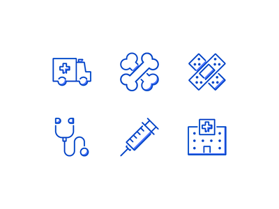 Medical Icons line interface infographic iconset icons iconography hospital flat business icon