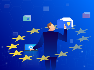 GDPR illustration privacy data european europe managing shield security gradient illustration illustrations gdpr