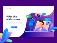 Video Chat Landing Page