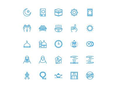 Ramdhan Icons ui line iconography iconsets iconset icon ramadhan ramadan