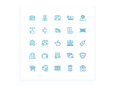 E Commerce And Shopping Icon set ecommerce shop shopping app shopping shop ecommerce line iconset iconography gradient icon