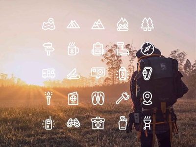 Adventure icons line iconset adventure icon adventures icons icon design iconography icon set icon adventure
