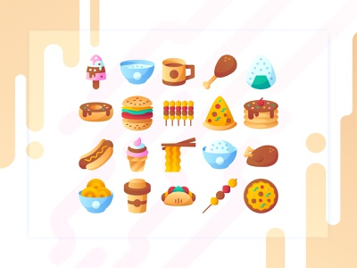 Icon tentang makanan enak to mantep to dari pada naik ojek food and drink illustration icons iconset iconography gradient flat food app food icon