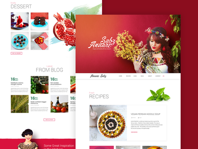 Annaresabz - Vegan and healthy life cooking clean website food healthy food lady ui pomegranate recipe vegetarian