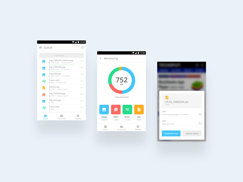 Download manager app by M Saeed Farajnezam | Dribbble | Dribbble