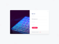 Sign Up Modal Concept