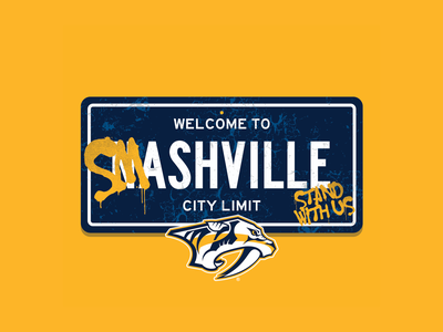 Smashville hockey nhl vector tshirt design apparel
