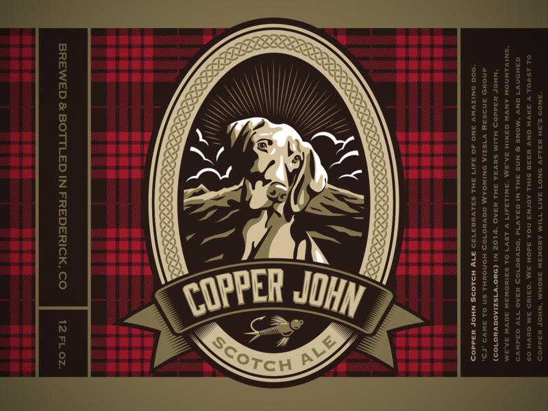 Copper John Ale layout label beer beer label illustration