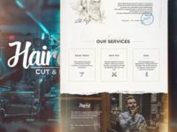 Barbershop Website Design