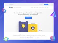Website design UI/UX ( Guardev )