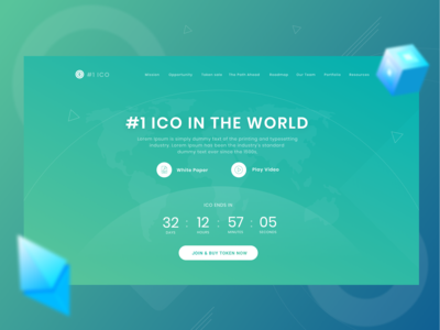 Number ONE ICO  ( ui/ux design )
