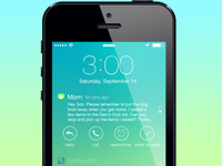 Notification Options - Lock Screen for iOS 7