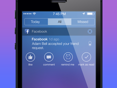 Notification Options - Notification Center for iOS 7