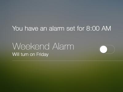 Alarm Notification Center - iOS 7
