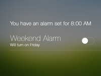 Alarm Notification Center - iOS 7