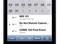 Do Not Disturb Calendar Integration Concept