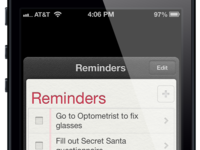 Reminders Lock Screen Card (iOS)