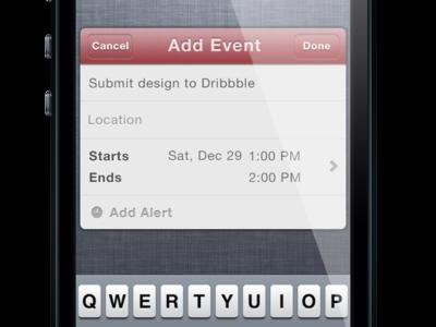 Actions Widget - Calendar View