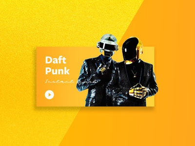 Instant Crush by Daft Punk color palette musician typography play songs music player song music app music