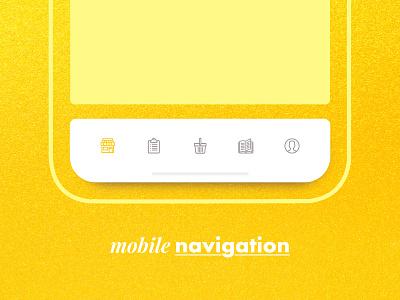 Menu Navigation navigation design userexperience mobile design app mobile app icons menubar navigation bar
