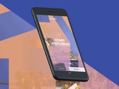 Makombo App Concept walkthrough ftue up sign explore socialmedia design interface userexperience uxui app application