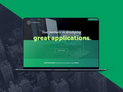 Developers Website scroll image button cta header webdesign website portfolio