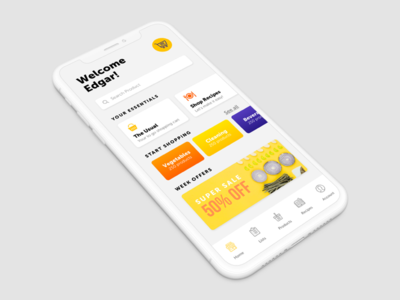 Grocery App for Iphone X concept project design quickapp userinterface shopping grocery supermarket app