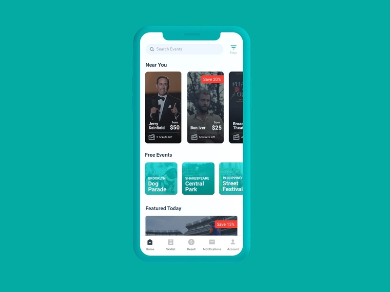 Tix-In Ticketing App timeout culture music concerts filters options search interface userexperience app userinterface design uxui newyork nyc graphic design events tickets