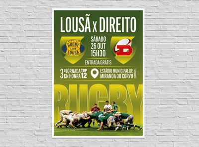 Poster Rugby Match