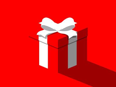 Secret Santa present gift christmas santa secret airtype design illustration