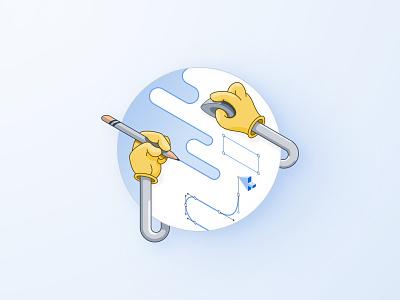 Isometric Illustration - Design isometric design vector icon design illustration thunder rockets