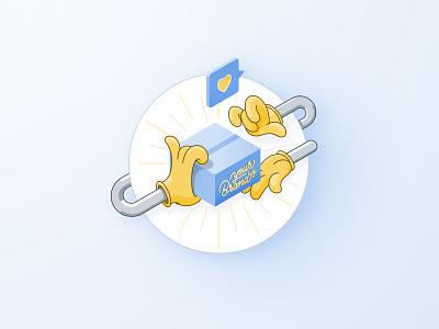 Isometric Illustration - Delivery icon set thunder rockets isometric art ui design delivery illustration