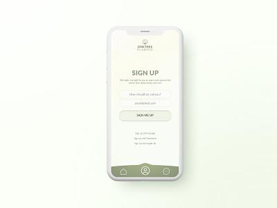 Sign up practice ux  ui app design sign up ui design dailyui